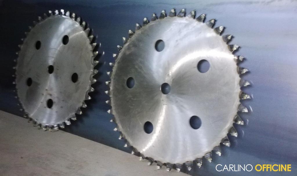 Lame in acciaio Ø 750 con placchette C16