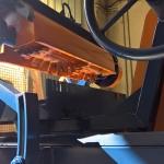 Macchina Scorniciatrice e centinatrice inclinabile dettaglio fresa elicoidale da 800 mm