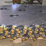 Steel blades Ø mm 1200X10 whit C20 widia plates